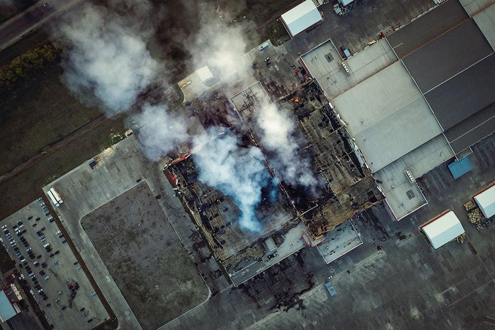 Fire and Hazmat gas detection scene
