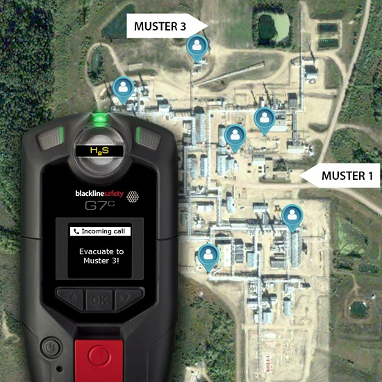 Blackline Safety connected monitoring devices include gas detection