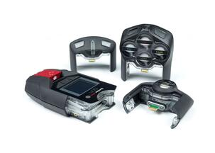 Personal gas detection device with exchangeable cartridges.