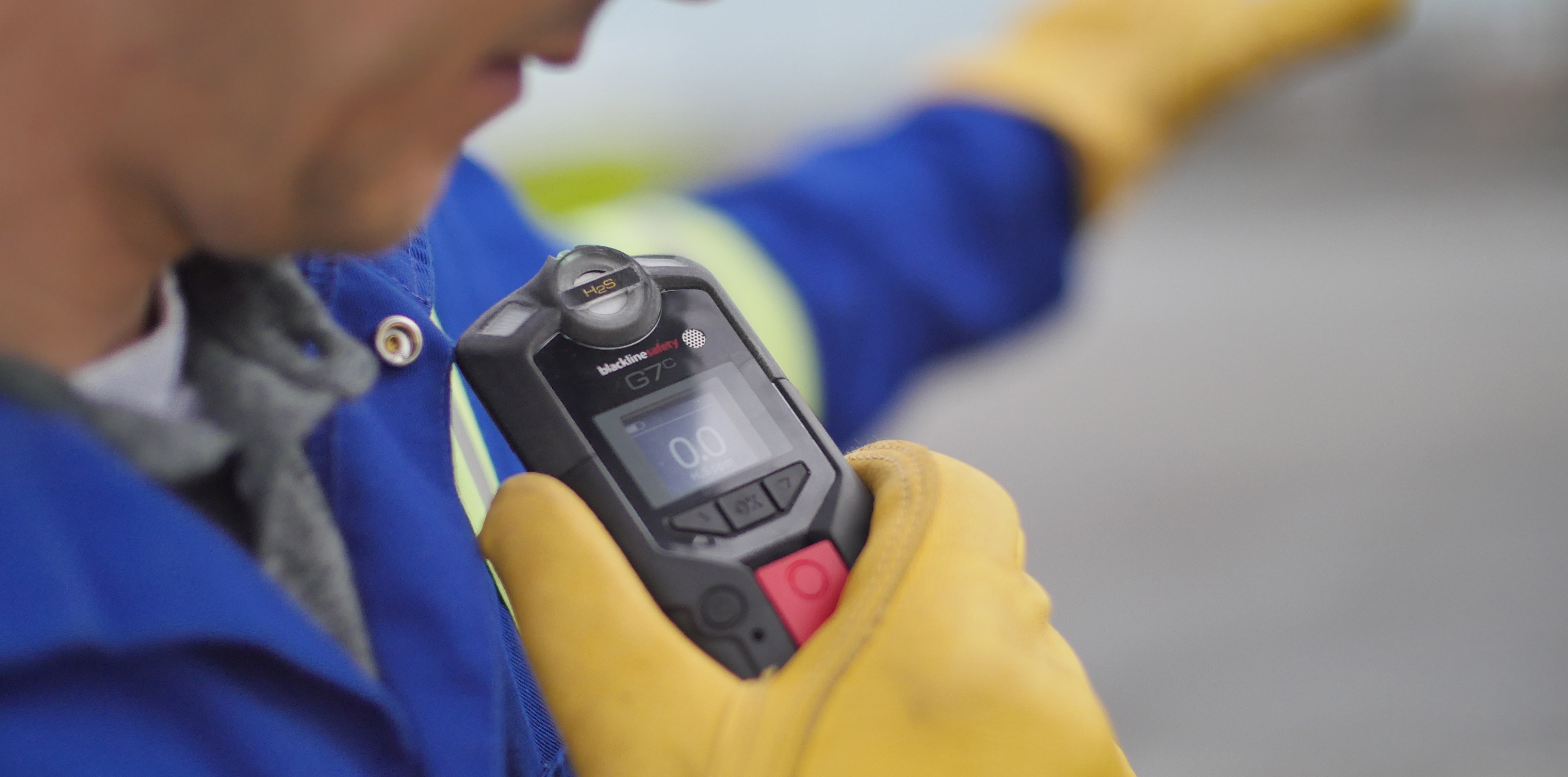 Lone worker with gas detection communications