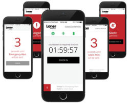 Easily trigger an emergency alert with Loner mobile
