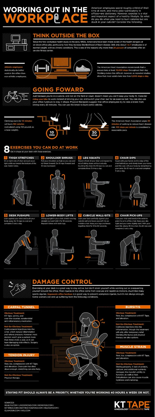 Working Out in The Workplace by Mashable