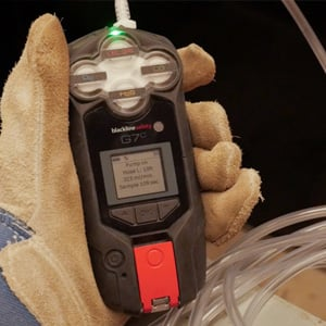 gas detection pump confined space entry