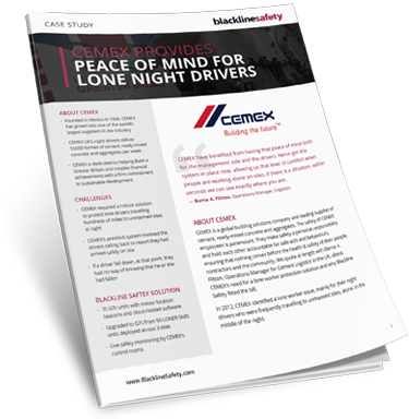 CEMEX Case Study for Lone Night Drivers