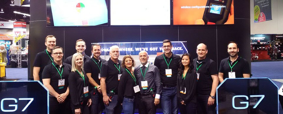 The Blackline Safety team who launched G7 connected safety at NSC Congress and Expo