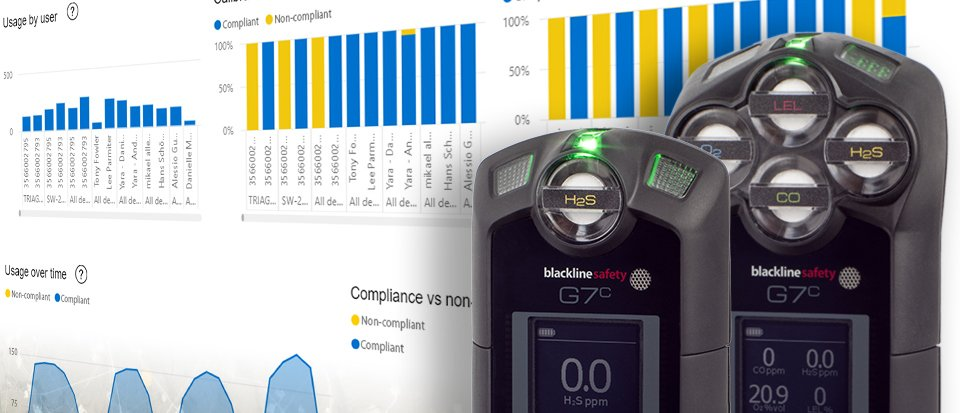 Blackline Safety G7 Insight gas detection system includes business analytics